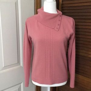 White Stag Rose/pink cowl neck sweater